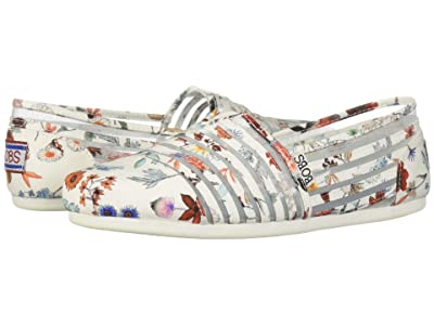 BOBS from SKECHERS Bobs Plush Daisy Darling (White/Multi) Women
