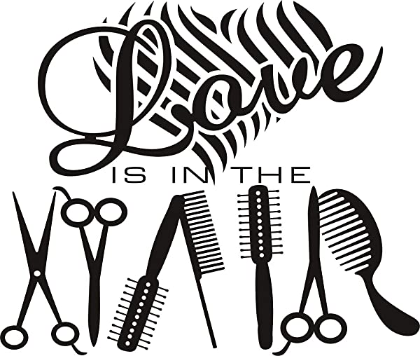 Charming Hairdressing Utensils Home Decor Beauty Salon Barbershop DIY Wall Decal Decoration Removable Vinyl Art Wall Stickers