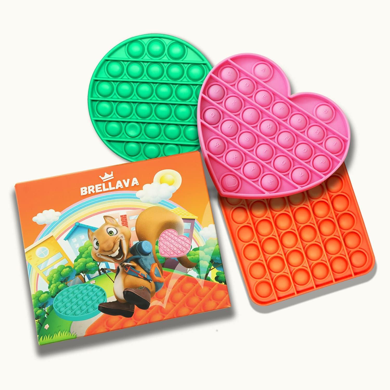 BRELLAVA Push Pop Pop Bubble Fidget Sensory Toy, Pop Fidget Toys