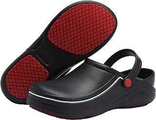 EASTSURE Slip Resistant Kitchen Shoes Chef Clogs Multifunctional Restaurant Garden Safety Work Medical Shoes for Men Women