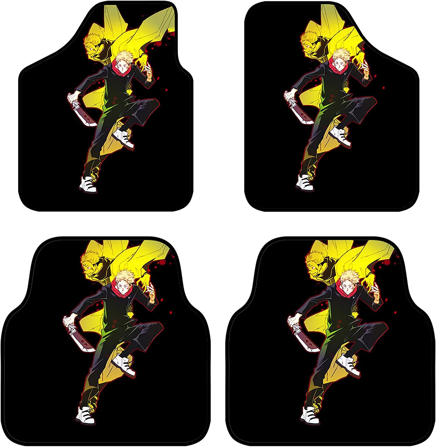 LVMMO 4 Piece Jujutsu Kaisen Front Mats Car Branded goods Floor SUV for SEAL limited product Rear