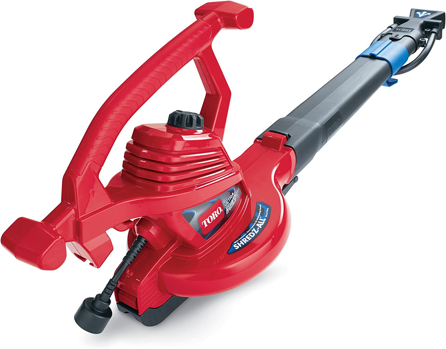 Toro 51621 UltraPlus Leaf Blower Vacuum, Variable-Speed (up to 250 mph) with Metal Impeller, 12 amp, Red : Garden & Outdoor