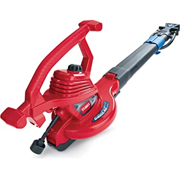 Toro 51621 UltraPlus Leaf Blower Vacuum, Variable-Speed (up to 250 mph) with Metal Impeller, 12 amp,Red