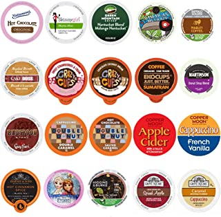 Perfect Samplers Coffee, Tea, Cider, Cappuccino, and Hot Chocolate Single Serve Cups For..
