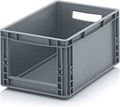 Auer Euro Sichtlagerkasten 40 x 30 x 22 cm inkl. gratis Zollstock * Eurobehälter mit Fenster