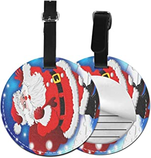 Round Luggage Tags Christmas Holiday Travel Accessories Suitcase Name Tags