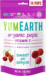 Yum Earth Organic Lollipop Bag Vitamin C 85g