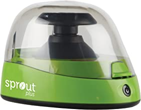 Heathrow Scientific 120610 Sprout Plus Mini Centrifuge 6000RPM, 100-240V, 50/60Hz Universal Plug, Locking Lid, Two Rotors, Certified, Green