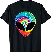 Rainbow Tie Dye Alien Head Cool Tye Die Trippy Rave T-Shirt