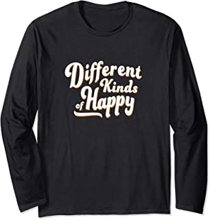 Different Kinds of Happy Long Sleeve T-Shirt