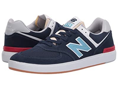 New Balance Numeric AM574 (Navy/Blue) Skate Shoes
