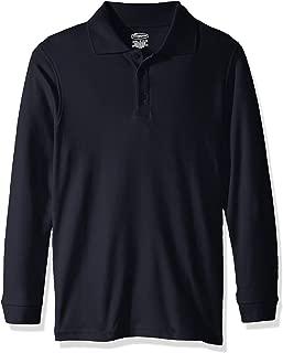 Classroom School Uniforms Boys' Big Youth Unisex Long Sleeve Interlock Polo, sos Navy, XL