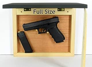 Concealment picture frame, hidden in plain sight, home defense compartment, hanging safe, gun stash, pistol wall mount storage, light back