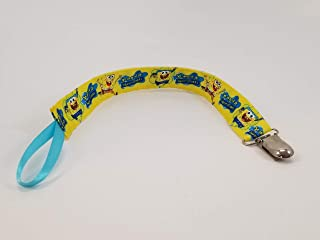 SpongeBob Yellow Pacifier clip/teething toy clip