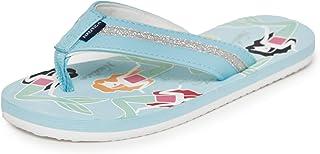 Nautica Kids Girls Youth Flip-Flop Thong Strap Sandal, Boat Slide (Little Kid/Big Kid)