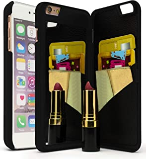 Bastex iPhone 6 Plus Case, Hidden Back Wallet Mirror Case with Stand Feature and Card Holder for Apple iPhone 6 Plus, 6S Plus 5.5