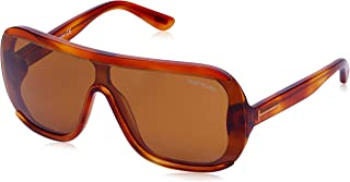 Tom Ford Men's Porfirio-02 - FT0559 Shield Sunglasses Brown 00 mm