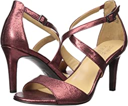 Cranberry Crackle Metallic Leather