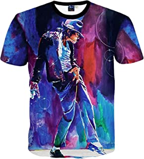 Young Men and Big Boys Fashion 3D T-Shirt Michael Jackson Printed Tops