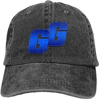 Washed Cotton Denim Cap Adjustable Dad-Hat Fashion GG Logo Distressed Unisex Adult Baseball Cap