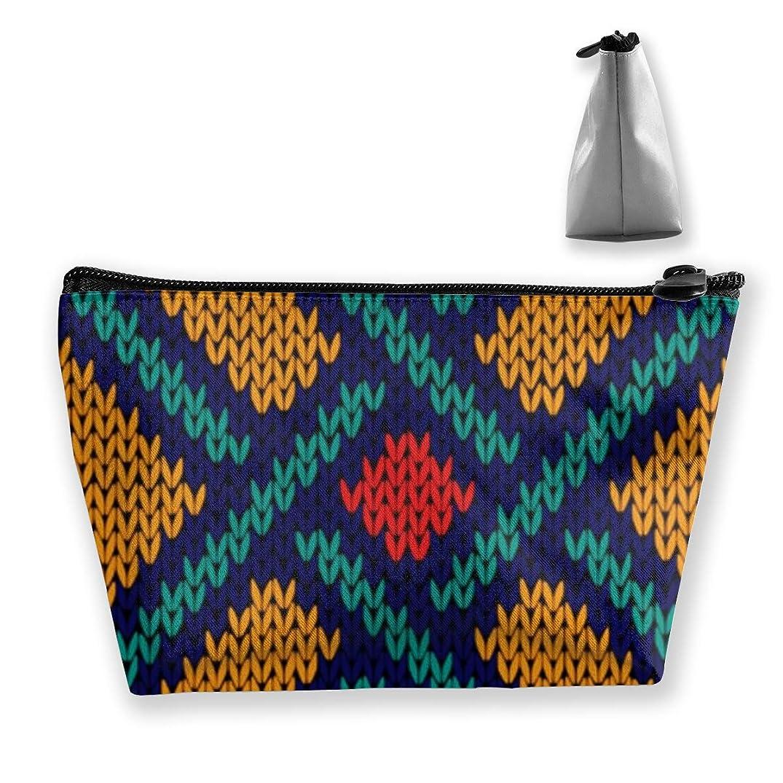故意のヤギ敬意収納ポーチ 幾何学のパターン 化粧ポーチ トラベルポーチ 小物入れ 小財布 防水 大容量 旅行 おしゃれ