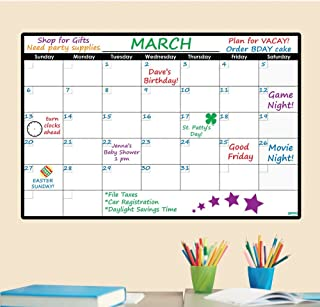 Sponsored Ad - Everase Re-Stic Dry Erase Self-Adhesive Peel & Stick Monthly Calendar | Wall Planner (24 x 36 in.) Free Mar... photo