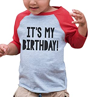 Kids It's My Birthday Red Raglan Tee