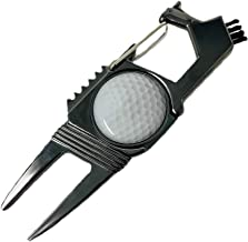 Laizy Daizy 5-in-1 Golf Divot Tool, Made with Alloy Zinc Metal Built to Last, 3 Cleaning Tools, Divot Repair, and Ball Mar...