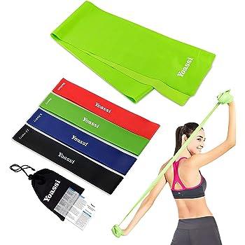 Fitnessbänder Lang 3er Set 150 x 15cm Fitnessband Resistance Bands Gymnastikband