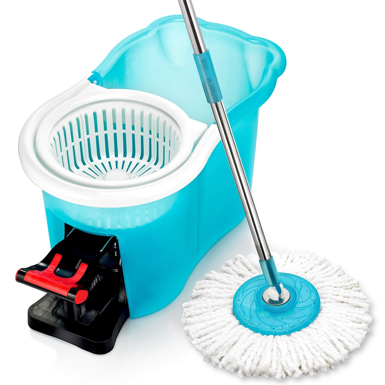 Amazon Com Hurricane Spin Mop Home Cleaning System By Bulbhead Floor Mop With Bucket Hardwood Floor Cleaner Home Kitchen