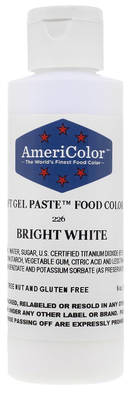 Americolor Soft Gel Paste Food Color, 6-Ounce, Bright White