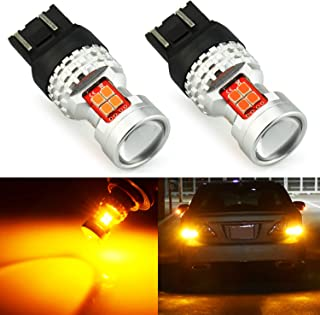 JDM ASTAR Extremely Bright High Power GX-3020 SMD 7440 7441 7443 7444 992 LED Bulbs with Projector, Amber Yellow