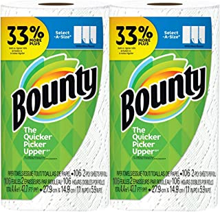 Bounty Select-A-Size, 2-ply 106 sheets Paper Towel Big Roll - White - 2-Pack