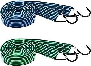 Atpwonz 荷台用ゴムひも2本組 長さ2M 荷物固定紐 荷崩れ防止 キャリーカート台車など荷台用 幅30mm 厚み4mm(両色)