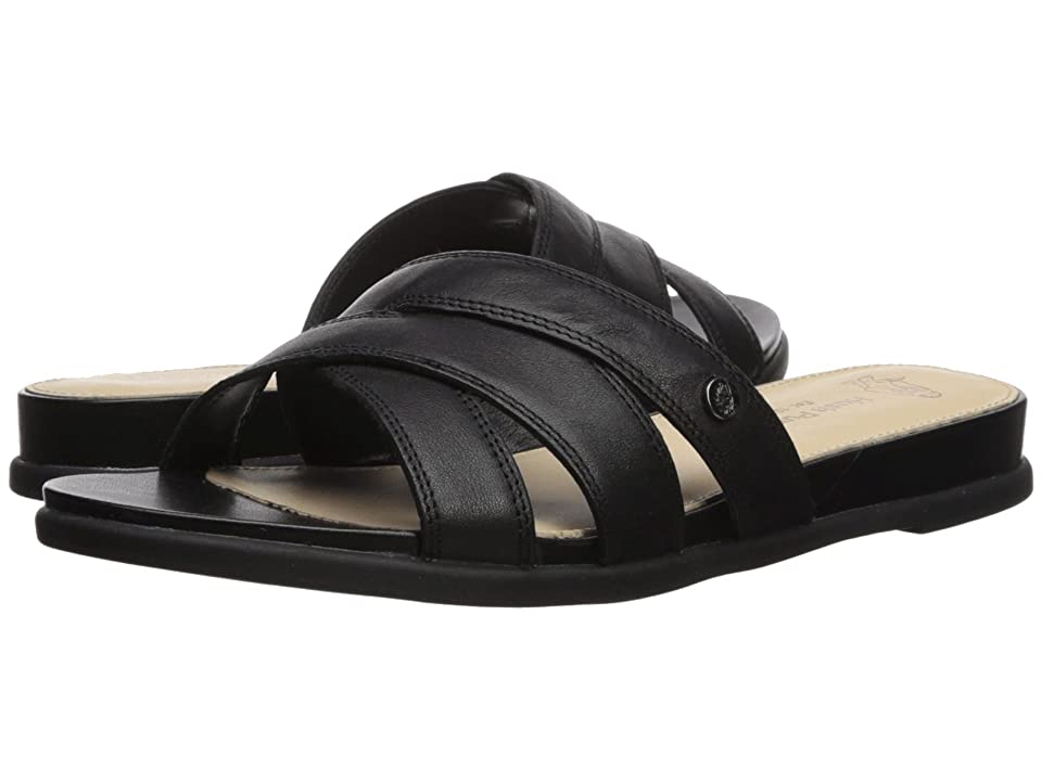 Hush Puppies Dalmatian Slide (Black Leather) Women