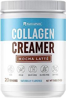 NativePath: Mocha Latte Collagen Coffee Creamer - Made with Pure Grass-Fed Collagen Protein Powder, MCT Oil, Monk Fruit - ...