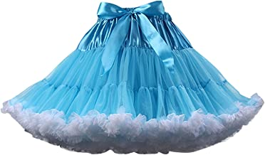 FOLOBE Women's Soft Puffy Tulle Petticoat Costume Ballet Dance Short Tutu Skirts Multi-Layer