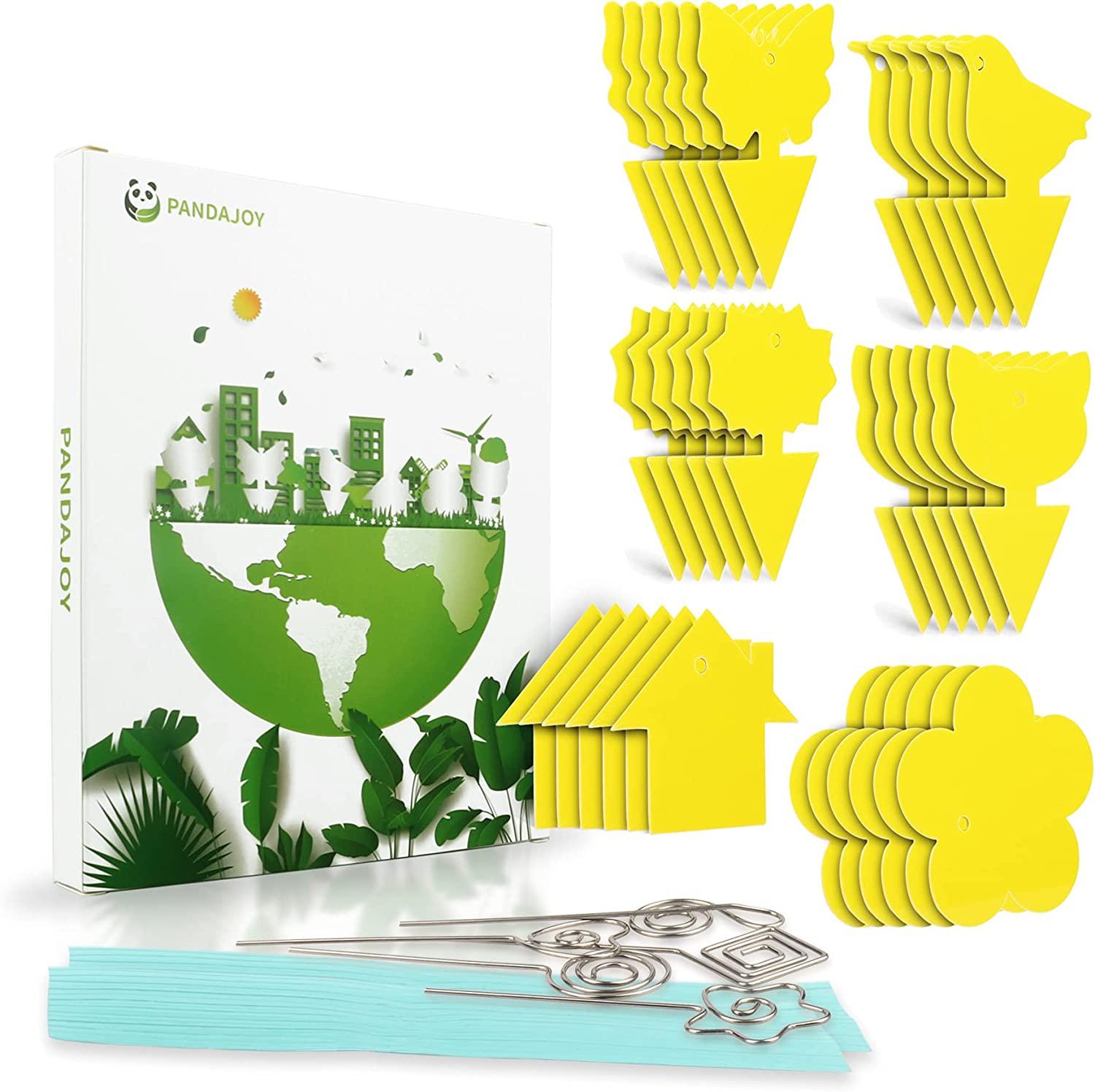 36 PCS Fruit Fly Trap Yellow for Gnat Indoo Killer Sticky Fungus Mail order New life cheap