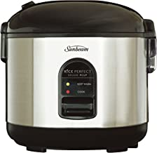 Sunbeam Rice Perfect Deluxe 7 | Rice Cooker & Steamer | Non-Stick Rice Maker | Makes 14+ Cups of Cooked Rice | Stainless S...