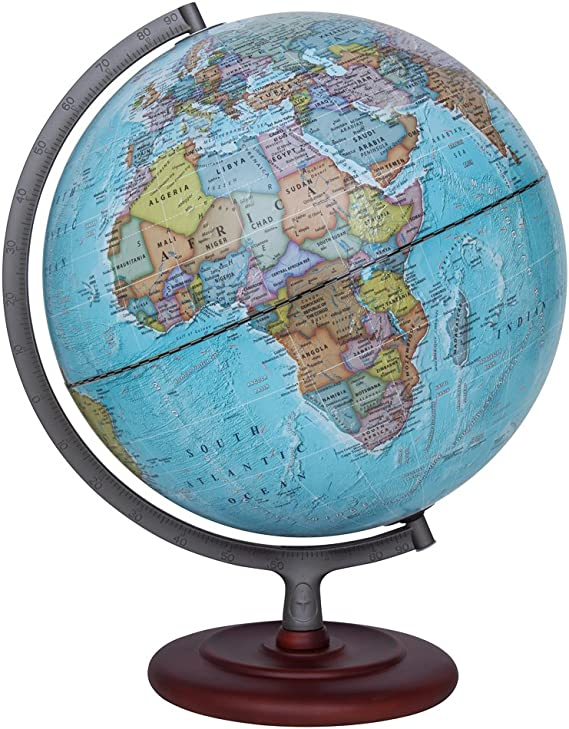 Waypoint Geographic Peninsula 12 inch Globe with Stand Over 4,000 UP-TO-DATE Points of Interest Office /& Classroom Pagoda Style Stand /& Politically Styled World Globe for Home