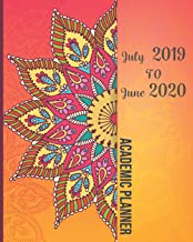 July 2019-June 2020 Academic Planner: Beautiful Mandala Cover, 12 Months July-June Calendar, Daily Weekly Monthly Planner 8
