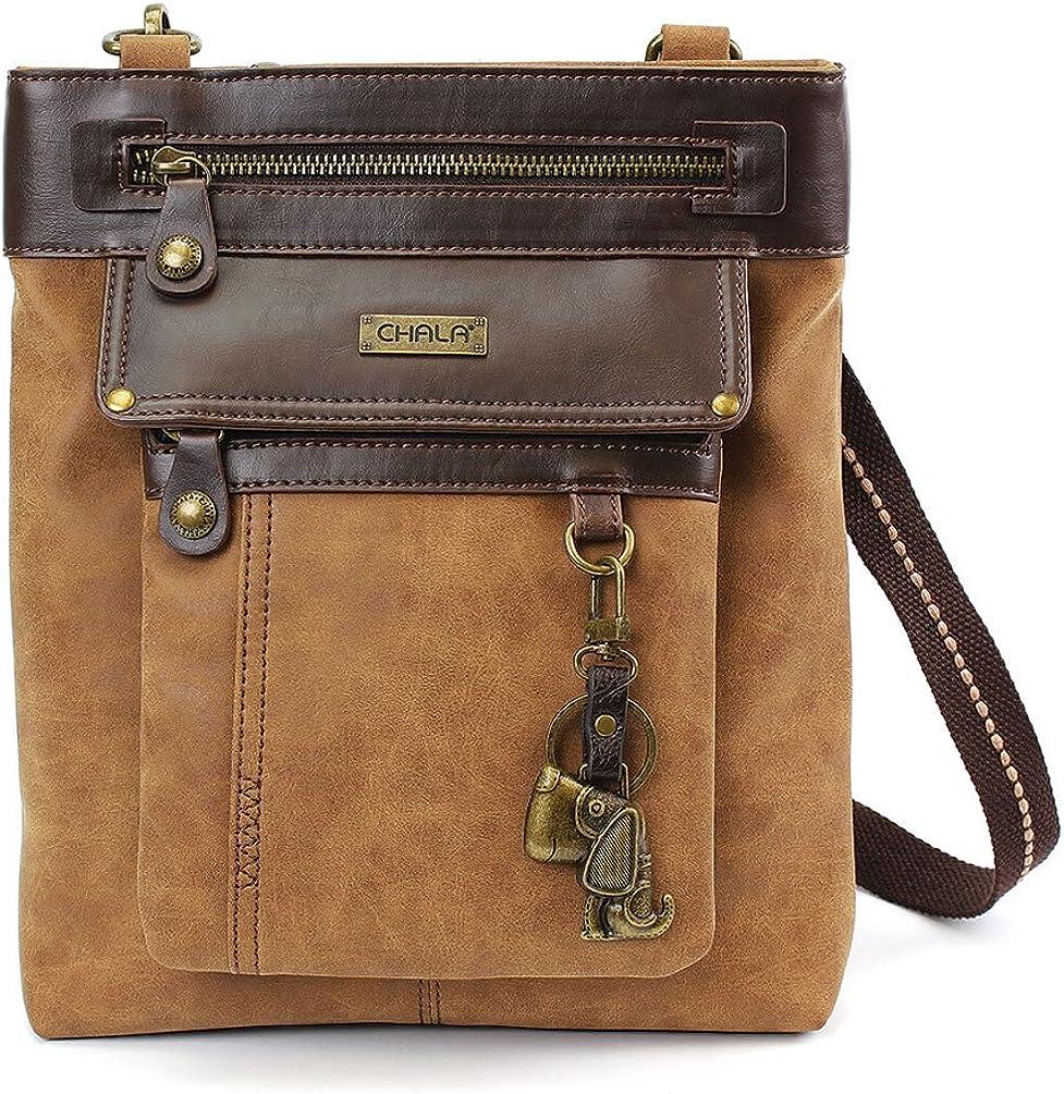 Chala GEMINI Crossbody Canvas Brown Bag Messenger Gift Credence Max 61% OFF