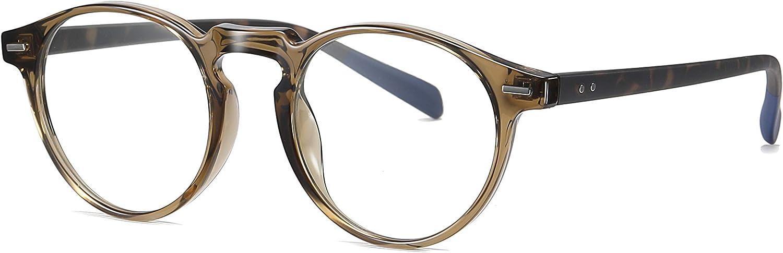 SKILEC Gafas Anti Luz Azul Gafas Lectura Hombre Mujer Gafas Ordenador TR Filtro Protección Azul UV Gafas Presbicia Hombre Antifatiga para PC Gaming Tablet TV Videojuegos Lentes Transparentes (Marrón)