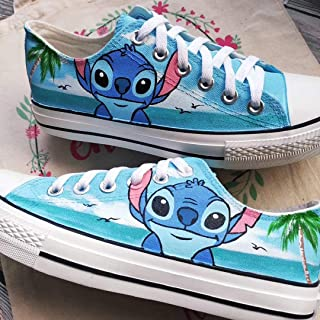 Lilo and Stitch Shoes Hand Painted Shoes Men Women Sneakers Lowtop Sneakers Fashion Shoes