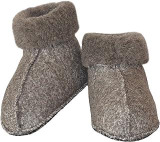 SamWo, Calcetines unisex de lana de oveja con suela antideslizante, 100% lana de oveja