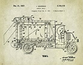 Garbage Truck Driver Patent Poster Art Print 11x14 Sanatation Worker Toys Wall Decor Pictures