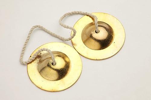 akshar tabla mart Manjira janj cables iron metal use in bhajan kirtan 3 inch 8 cm