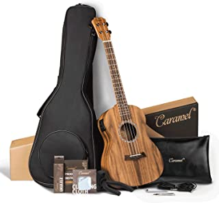 Caramel CB207 Acacia Baritone Acoustic Electric Ukulele with Truss Rod with Additional..