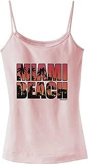 TooLoud Miami Beach - Sunset Palm Trees Spaghetti Strap Tank