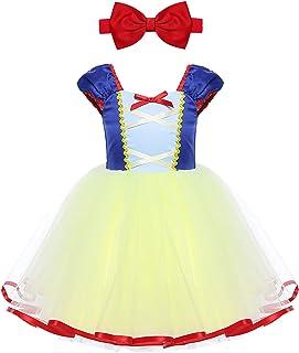 b22790df07069 iiniim Déguisement Princesse Blanche Neige Robe Bébé Fille Tulle Robe  Courte Halloween Carnaval Noël Partie Costume